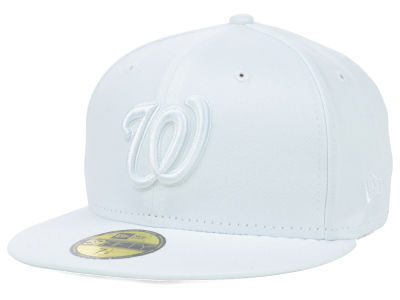Washington Nationals New Era MLB White on White Fashion 59FIFTY Cap