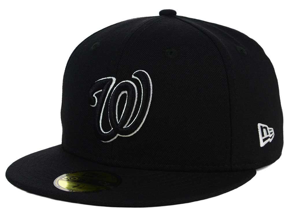 d862fea4 ... clearance washington nationals new era mlb black and white fashion  59fifty cap f6574 40096 ...