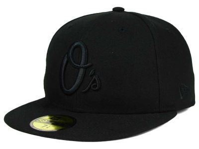 Baltimore Orioles New Era MLB Black on Black Fashion 59FIFTY Cap