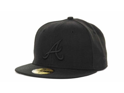 Atlanta Braves New Era MLB Black on Black 59FIFTY Cap