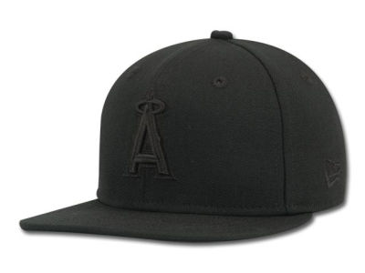 Los Angeles Angels New Era MLB Black on Black 59FIFTY Cap