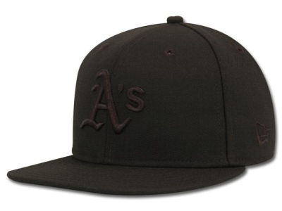 Oakland Athletics New Era MLB Black on Black Fashion 59FIFTY Cap