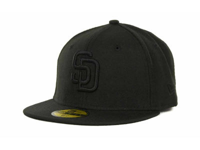 San Diego Padres New Era MLB Black on Black 59FIFTY Cap