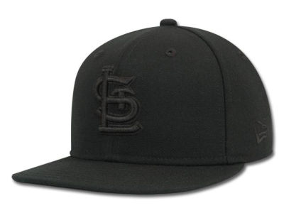 St. Louis Cardinals New Era MLB Black on Black 59FIFTY Cap