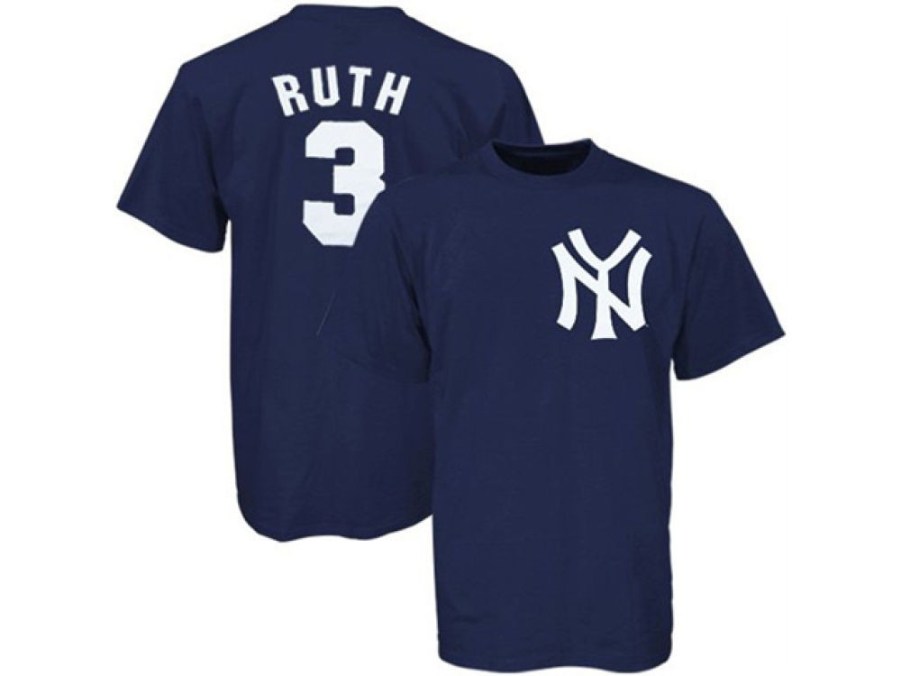 New York Yankees Babe Ruth Majestic MLB Men s Cooperstown Player T-Shirt  8f7726bf2