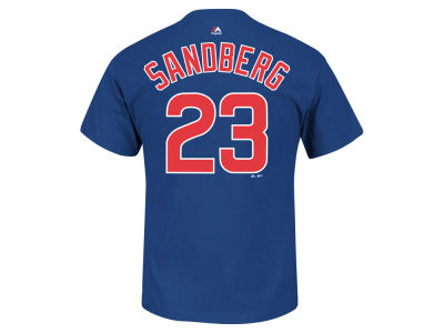 Chicago Cubs Ryne Sandberg Majestic MLB Men's Cooperstown Player T-Shirt