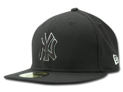 New York Yankees New Era MLB Black and White Fashion 59FIFTY Cap