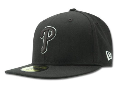 Philadelphia Phillies New Era MLB Black and White Fashion 59FIFTY Cap