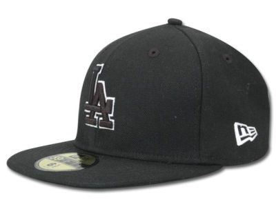Los Angeles Dodgers New Era MLB Black and White Fashion 59FIFTY Cap
