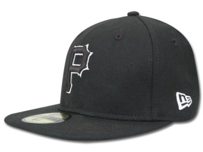 Pittsburgh Pirates New Era MLB Black and White Fashion 59FIFTY Cap