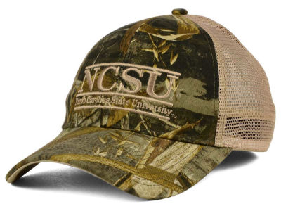 North Carolina State Wolfpack The Game NCAA Camo Mesh Bar Snapback Cap