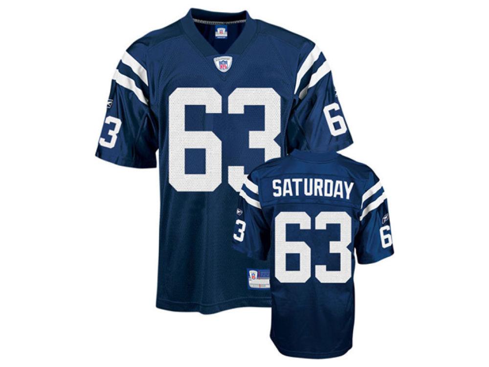 Indianapolis Colts Jeff Saturday NFL Premier Jersey  0e90ed904