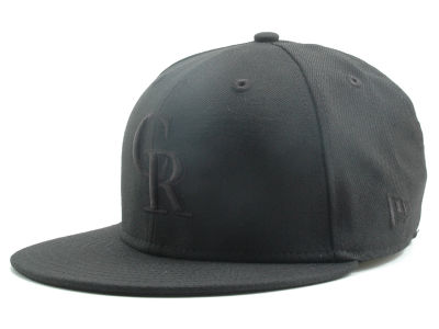 Colorado Rockies New Era MLB Black on Black 59FIFTY Cap