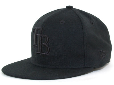 Tampa Bay Rays New Era MLB Black on Black 59FIFTY Cap