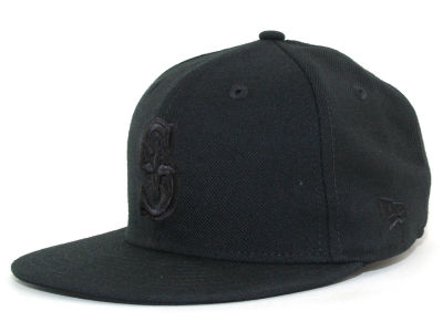 Seattle Mariners New Era MLB Triple Black 59FIFTY Cap