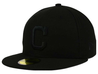 Cleveland Indians New Era MLB Black on Black Fashion 59FIFTY Cap