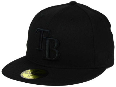 Tampa Bay Rays New Era MLB Triple Black 59FIFTY Cap