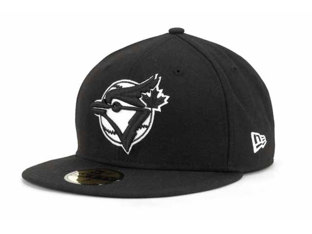 c1d74aeecbe ... germany toronto blue jays new era mlb black and white fashion 59fifty  cap lids 28d2a d4c4c
