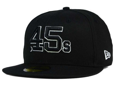 Houston Colt 45s New Era MLB Black and White Fashion 59FIFTY Cap
