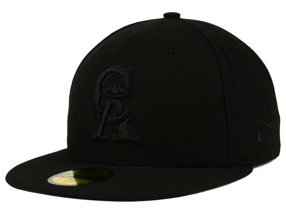 Los Angeles Angels New Era MLB Triple Black 59FIFTY Cap  b30d3dbf5c77