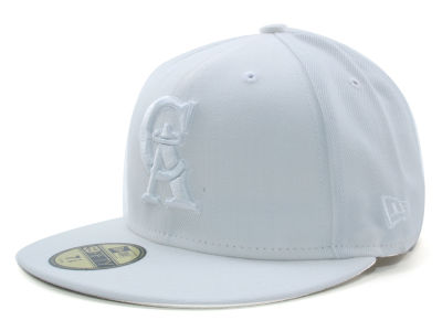 Los Angeles Angels New Era MLB White on White Fashion 59FIFTY Cap