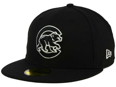 Chicago Cubs New Era MLB Black and White Fashion 59FIFTY Cap