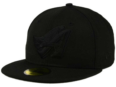 Los Angeles Angels New Era MLB Black on Black Fashion 59FIFTY Cap