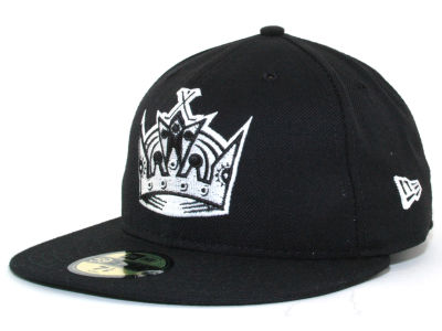 Los Angeles Kings New Era NHL Black and White 59FIFTY Cap