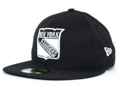 New York Rangers New Era NHL Black and White 59FIFTY Cap