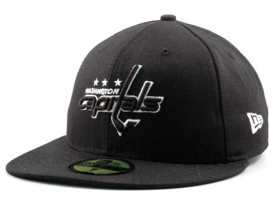 Washington Capitals New Era NHL Black and White 59FIFTY Cap