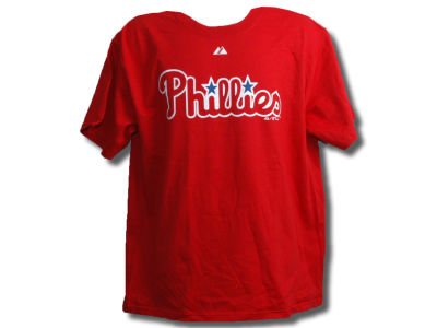 Philadelphia Phillies Majestic MLB Men's Wordmark T-Shirt