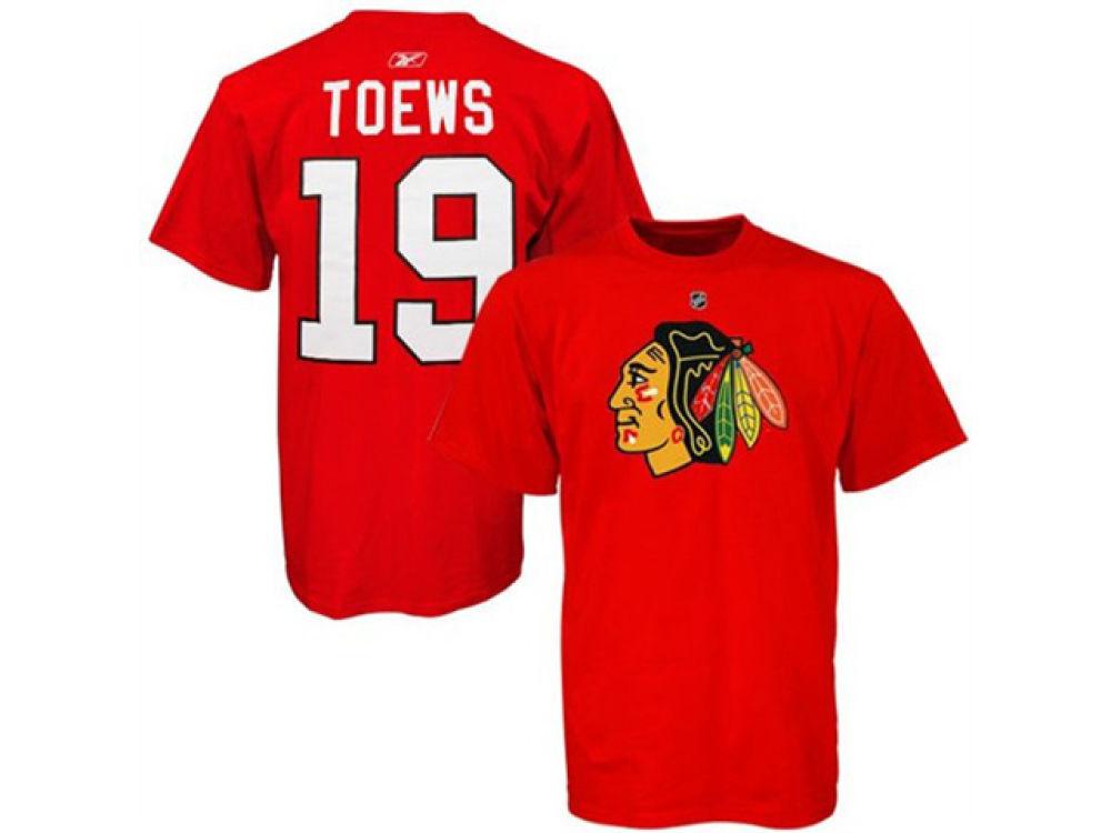 5aa7111e7 Chicago Blackhawks Jonathan Toews Reebok NHL Men s Player T-Shirt ...