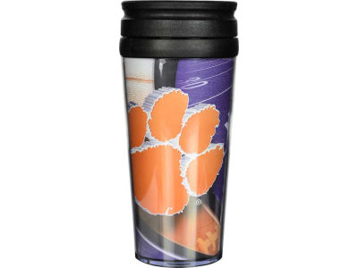 Clemson Tigers 16oz Travel Tumbler