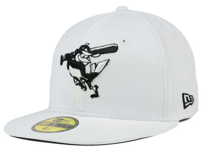 Baltimore Orioles New Era MLB White And Black 59FIFTY Cap
