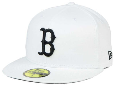 Boston Red Sox New Era MLB White And Black 59FIFTY Cap