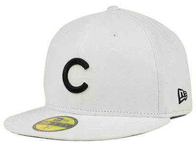Chicago Cubs New Era MLB White And Black 59FIFTY Cap