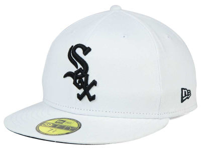 Chicago White Sox New Era MLB White And Black 59FIFTY Cap