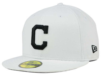 Cleveland Indians New Era MLB White And Black 59FIFTY Cap