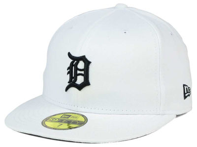 Detroit Tigers New Era MLB White And Black 59FIFTY Cap