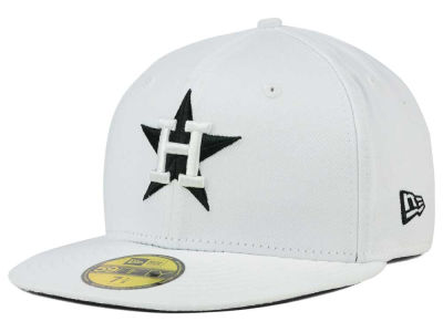 Houston Astros New Era MLB White And Black 59FIFTY Cap