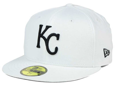 Kansas City Royals New Era MLB White And Black 59FIFTY Cap