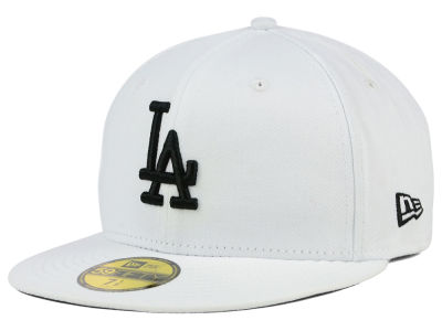 Los Angeles Dodgers New Era MLB White And Black 59FIFTY Cap