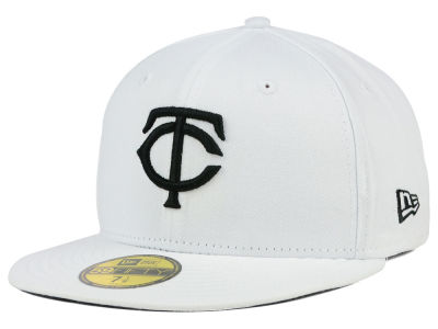 Minnesota Twins New Era MLB White And Black 59FIFTY Cap