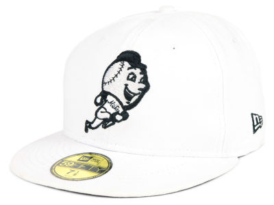 New York Mets New Era MLB White And Black 59FIFTY Cap