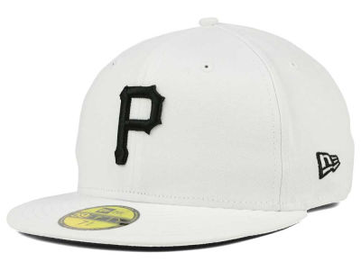 Pittsburgh Pirates New Era MLB White And Black 59FIFTY Cap