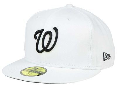 Washington Nationals New Era MLB White And Black 59FIFTY Cap