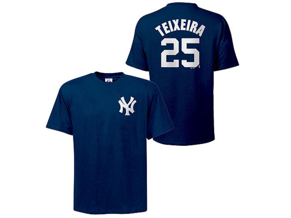 meet 3929c b0013 New York Yankees Mark Teixeira Majestic MLB Youth Player T-Shirt
