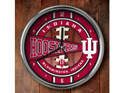Indiana Hoosiers Chrome Clock
