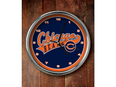 Chicago Bears Chrome Clock