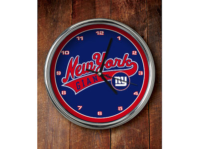 New York Giants Chrome Clock